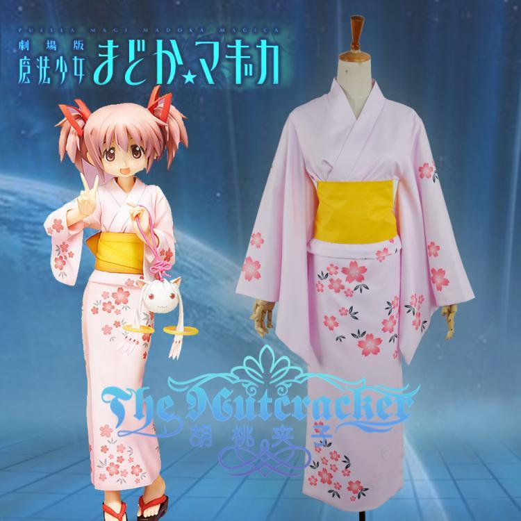 Puella Magi Madoka Magica Printing Yutaka Cosplay Costume Tomoe Mami Kimono