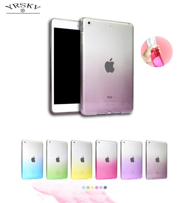 Case For Apple ipad Air 1 YRSKV gradient rainbow Ultra Slim Designer Tablet TPU Feel super soft shell