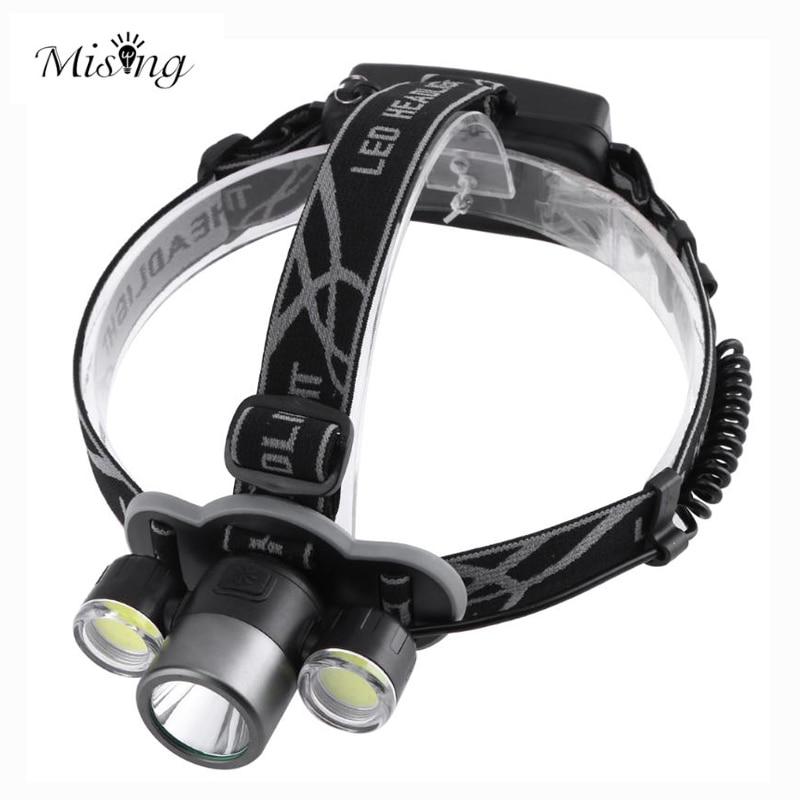 MISING T6 LED 1200 Lumens Outdoor Headlamp Waterproof Rechargeable Headlight Led Head Lamp Adjustable Flashlight Lantern