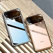 HD Clear Fashion Cover for iPhone 8 Plus 7 Case Tempered Glass Hard Plastic X XR XS Max Ultra Thin