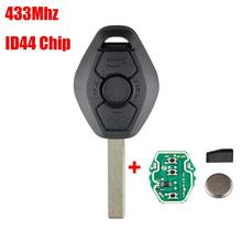 New 2019 Chip Keyless Entry Transmitter 433/315MHz Remote Key For BMW EWS X3 X5 Z3 Z4 1/3/5/7 Series ID44/PCF7935 цена 2017