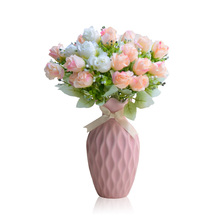 New Desgin Macarons Color Dried Flower Bowknot Wedding Vase Modern Pure And Fresh Hydroponic Flowers Sitting Room Decoration