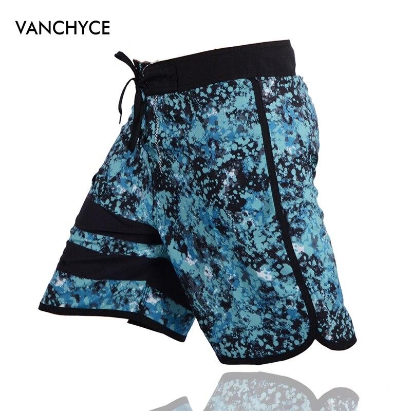 VANCHYCE Summer Swimwear Men   Shorts   Men Board   Shorts   Brand Beach   Shorts   Men Bermuda   Short   Quick Dry Silver Mens Boardshorts