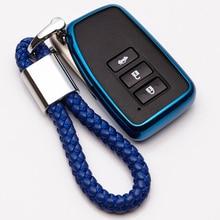 KUKAKEY TPU Car Key Case Cover for Lexus NX GS RX IS ES GX LX RC 200 250 350 LS 450H 300H Car Styling Accessories breathable car seat covers for lexus es is c is ls rx580 nx gs cth gx lx rc rc f car accessories stickers car styling