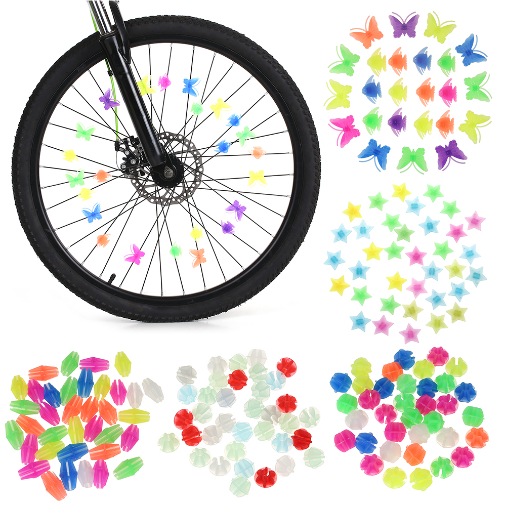 Cycling-Wheel-Spoke Decoration Bike Bicycle Colorful Fun 36pcs Beads Assorted Attachments