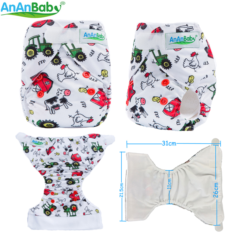 2018 New Reusable Printed & Minky Hook And Loop Fastener Newborn Cloth Diaper 1pcs With Microfiber Inserts  NBL&NBD-Series