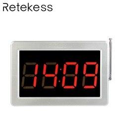 RETEKESS 999 Channel RF Wireless Tea Shop Bar Cafe Restaurant Calling Paging System Receiver Host Voice Broadcast F3290D