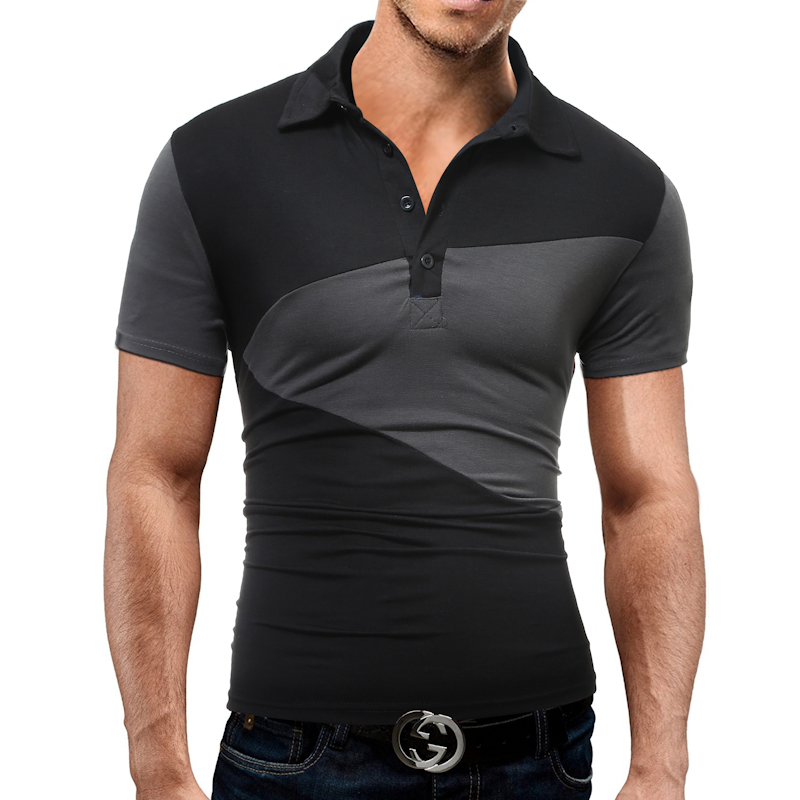 Brand Men S T Shirt 2017 Summer Fashion Lapel Short Sleeved Tees Male Camisa Casual T