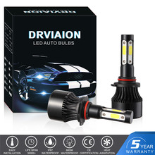 4-sides 9006/HB4 170W 255000LM COB LED Headlight Bulb Conversion Pure White 6500K Fog Light HID Car Accessories