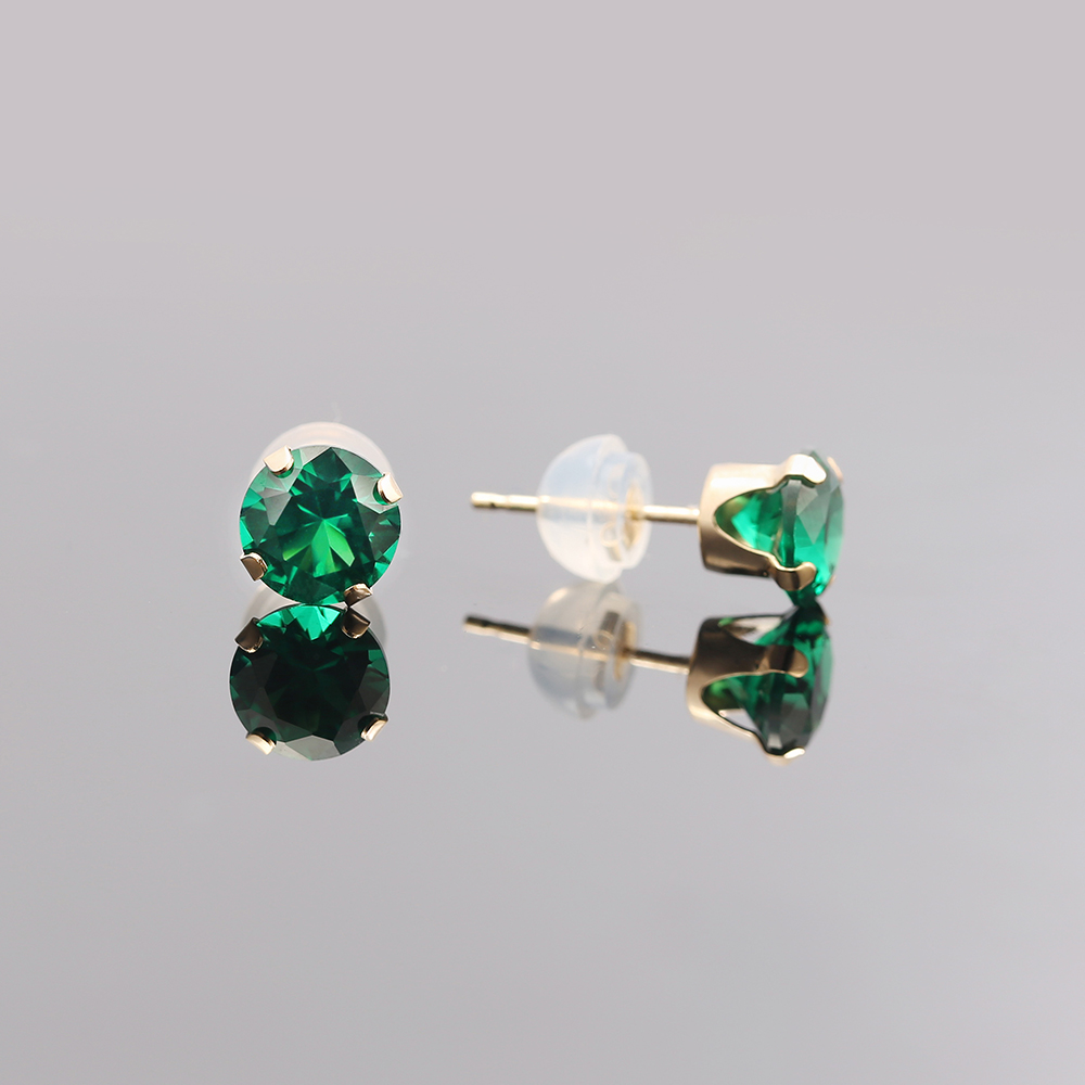 gunmetal star gems fashion elegant sparkle stud emerald green studs earrings starlet crystal