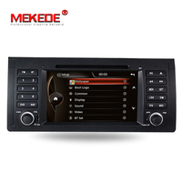 Wholesale! MEKEDE windows ce6.0 system car gps dvd player for BMW E39 E53 X5 3 series including canbus support bluetooth SWC