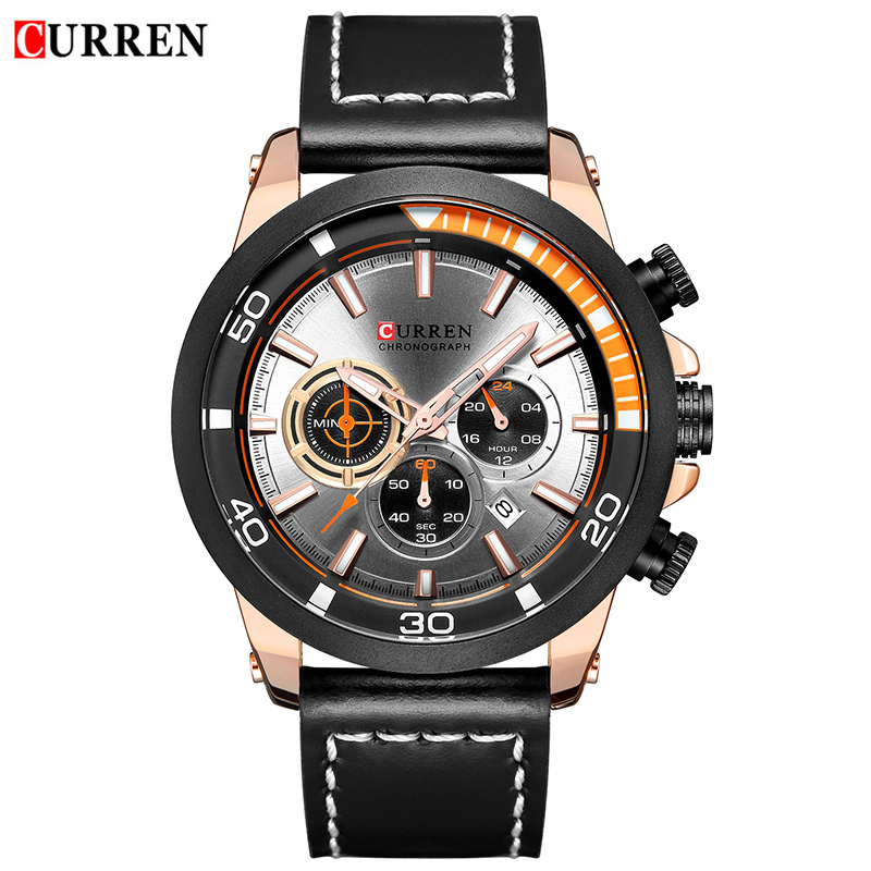 CURREN Luxury Brand Mens Fashion Quartz Watch Men Fashion Leather Chronograph Watch Male Military Sports Clock Reloj HombreCURREN Luxury Brand Mens Fashion Quartz Watch Men Fashion Leather Chronograph Watch Male Military Sports Clock Reloj Hombre