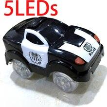 5 светодиодный s черный волшебный светодиодный игрушечный автомобиль с мигающими огнями, светящийся полицейский автомобиль, развивающие игрушки для мальчиков и девочек, подарок на день рождения, детские игрушки