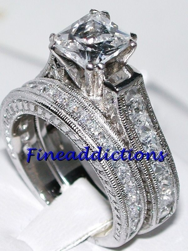 Victoria Wieck Solitaire Fashion Jewelry 14KT White Gold Filled AAA Cubic Zirconia Princess Women Wedding Bridal Ring Size 5-10Victoria Wieck Solitaire Fashion Jewelry 14KT White Gold Filled AAA Cubic Zirconia Princess Women Wedding Bridal Ring Size 5-10