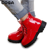 Children S Shoes Autumn Winter 2015 Children Korean Version Of Martin Boots Leather Waterproof Boots For