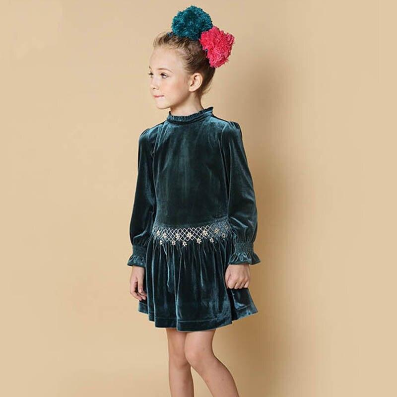 Toddler Dress Winter Girls Dresses 2017 Brand Christmas Dress Princess Costume Velvet Kids Dresses for Girls Children Clothes