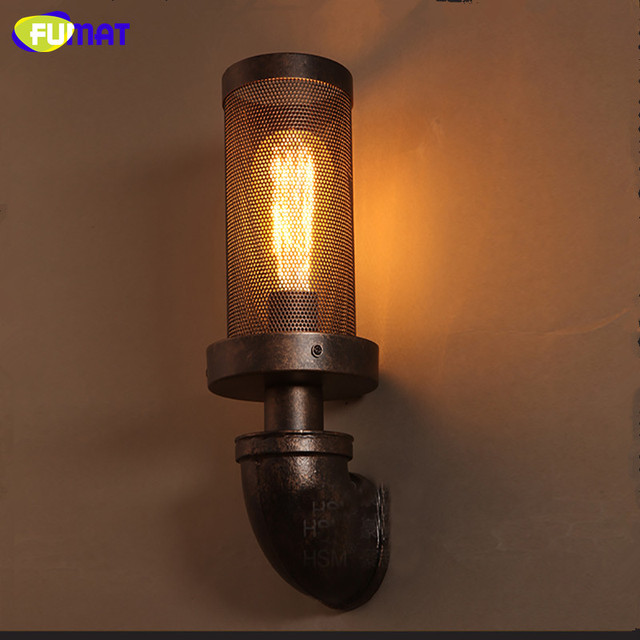 FUMAT American Vintage Wall Lamps Loft Industrial Stairs Aisle Lights Restaurant Bar Cafe Wall Sconces