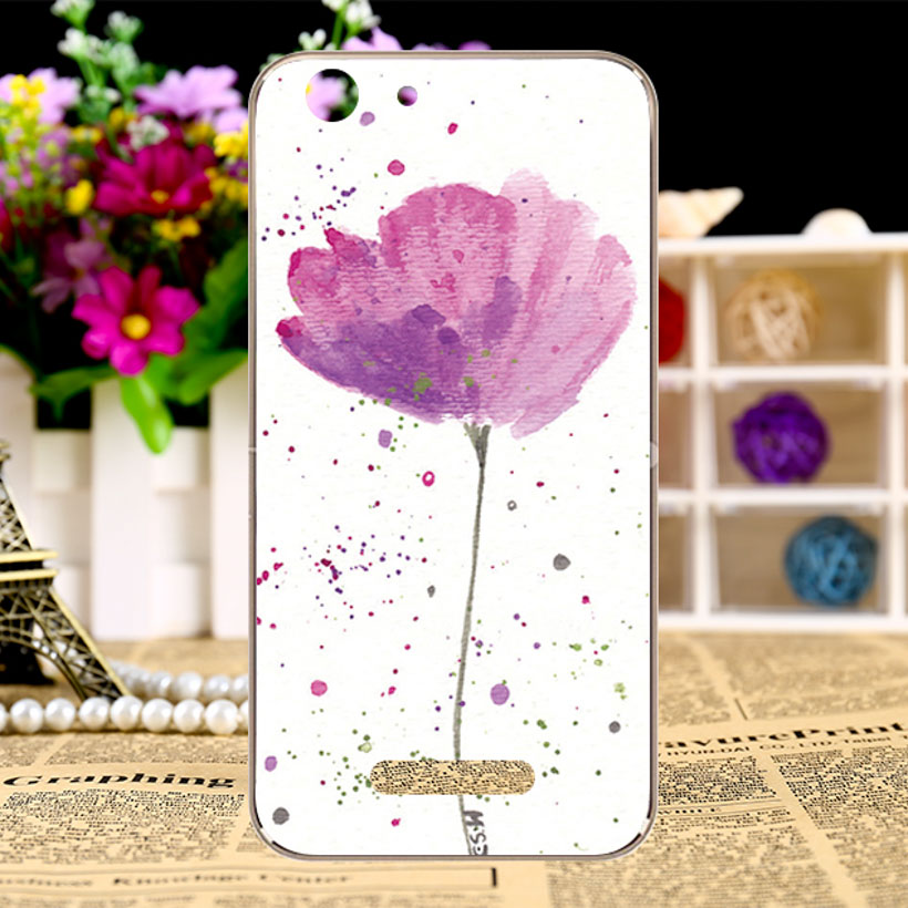 AKABEILA Soft TPU Silicon Phone Case For Cubot Note S 5.5inch Back Cover DIY P Pattern Floral Flowers Paint Hood Dirt-resistant