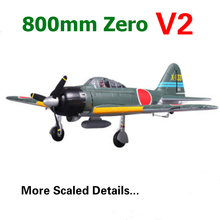 FMS 800mm Mini Zero Fighter A6M3 V2 Green 4CH 2S EPO PNP RC