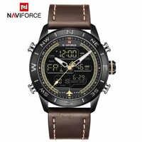 Fashion NAVIFORCE Luxury Men WatchBrand Sports Watches Men's Waterproof Quartz Date Clock Man Leather Army Military Wrist Watch