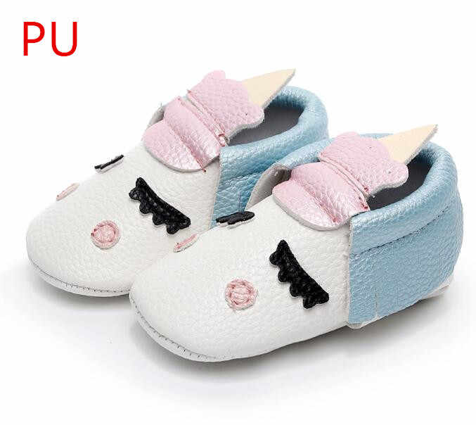 48830fffbc4f3 PU Leather Unique style newborn baby moccasins toddler baby christmas gifts  party shoes Blush golden angle Unicorn Baby boot
