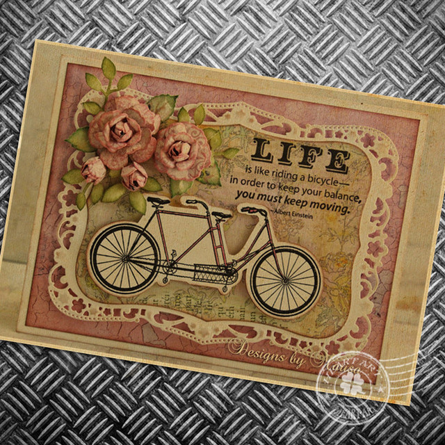HD Vintage Old Bicycle poster painting retro print picture movie ...