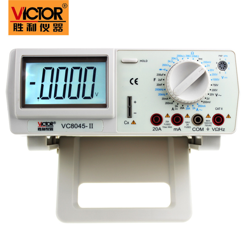 VICTOR VC8045-II Bench Top 4 1/2 True RMS DCV/ACV/DCA/ACA DKTD0122 Precision Desktop Multimeter victor vc9808 3 1 2 digital multimeter dcv acv dca r c l f