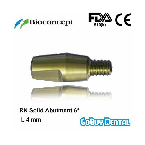 все цены на Straumann Compatible RN Solid Abutment 6 degrees, height 4.0mm, yellow(Regular Neck) онлайн