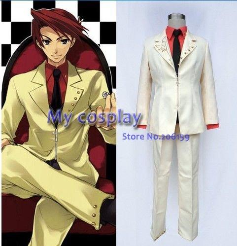 Umineko no Naku Koro ni Battler мужской костюм для косплея полный костюм для мужчин весеннее платье Хэллоуин одежда
