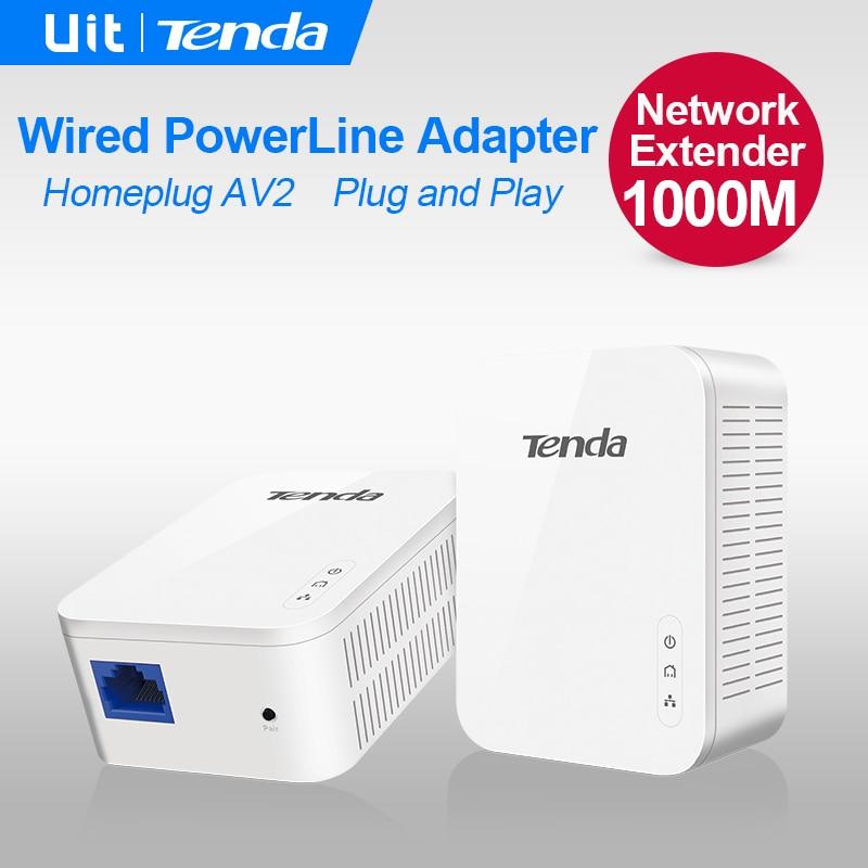 Prix pour 1 Paire Tenda PH3 1000 Mbps Powerline Ethernet Adaptateur, PLC Adaptateur, Sans Fil WiFi extender, Powerline Réseau, IPTV, Homeplug AV2