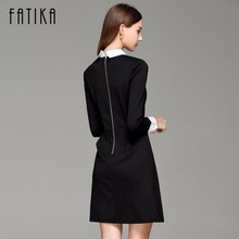 FATIKA Women's Elegant Peter pan Collar Casual Dress