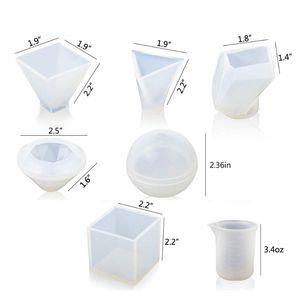 Image 2 - Grands moules en Silicone pour bricolage époxy, y compris le moule en pierre Cube, moule de moulage de résine, 1 ensemble