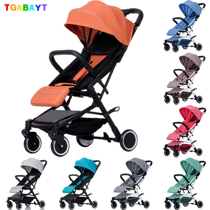 TGABAYT Baby Stroller Trolley Car Wagon Folding Baby Carriage Bebek Arabas Buggy Lightweight Pram baby Stroller