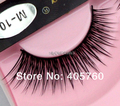 Wholesale 1pair/lot Fashion Natural Long Winged Tapered Black False Eyelashes Fake Eye Lash Daily Makeup Beauty DIY Salon M10
