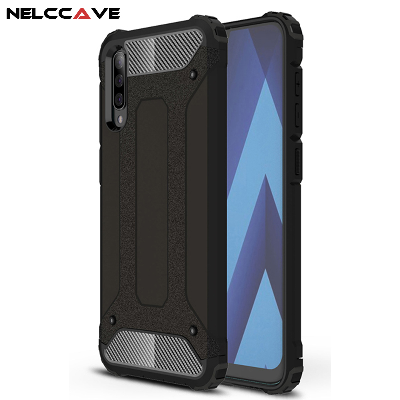 Rugged Armor Phone Case For Samsung Galaxy A70 A60 A50 A40 A40S A30 A10 TPU+PC Shockproof Hybrid Full Protection Cover