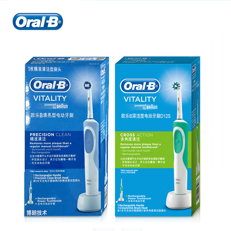Oral B Vitality Electric Toothbrush 2D Series Withen Teeth Rechargeable Electric Toothbrush image