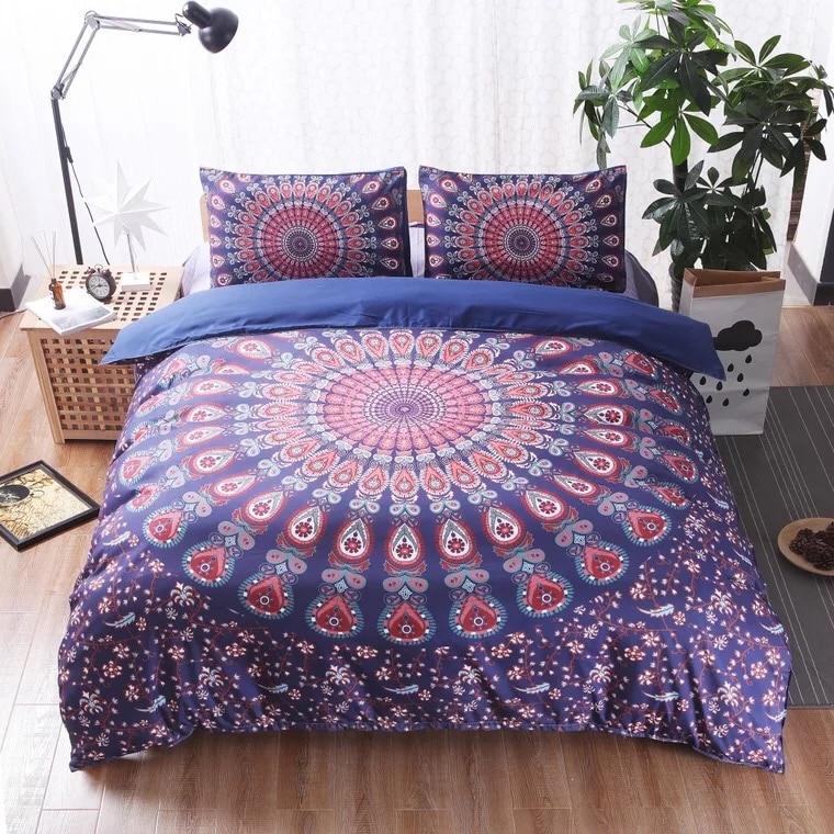 LFH Mandala 3PCS Printing Duvet Cover Set With Pillow Covers Twin/Queen/King Boho Bedding Set No Bed Sheet