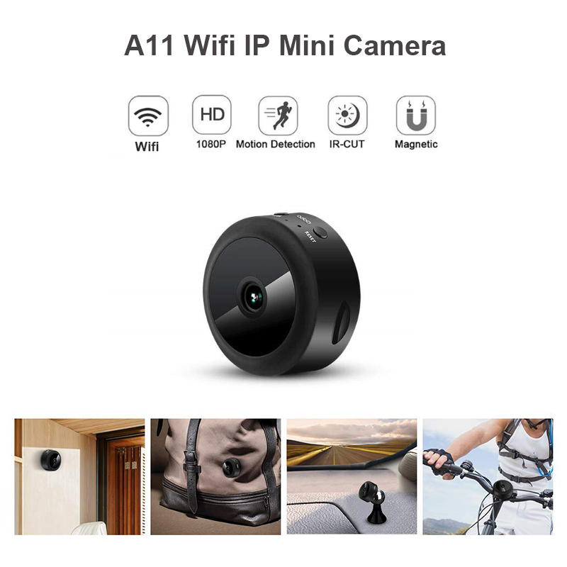 A11 Wifi IP Mini caméra Full HD 1080 P caméra secrète IR Nigh Vision Micro caméra détection de mouvement caméra prise en charge cachée carte TF