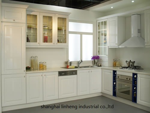 PVC/vinyl kitchen cabinet(LH-PV005)
