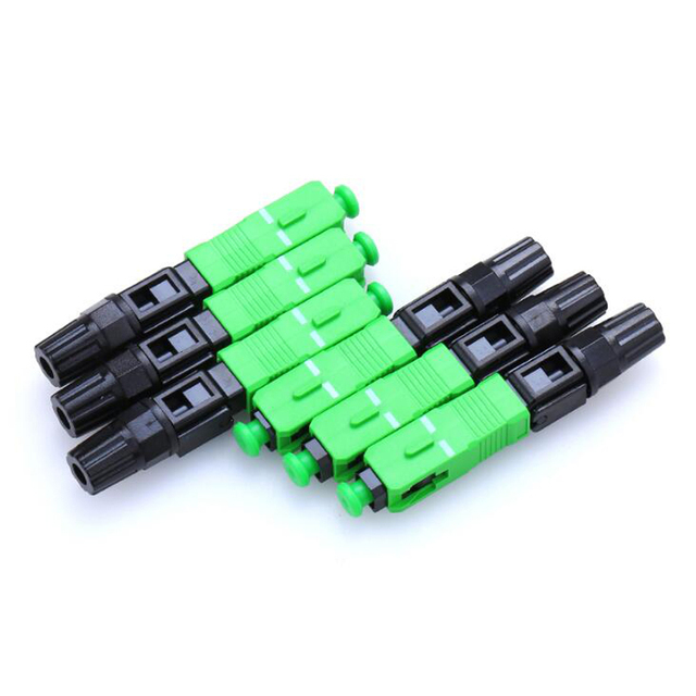 100pcs 100PCS/box single-mode quick connector SC APC FTTH Fiber Optic Fast Connector