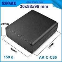 1 unidades el envío libre de color Negro pequeño caso de la alta calidad electrónica recintos de extrusión de aluminio de vivienda