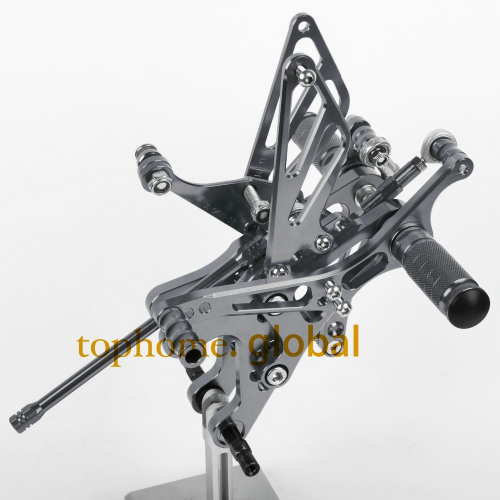 Free Shipping Motorcycle Parts Dark grey CNC Rearsets Foot Pegs Rear Set For YAMAHA YZF-R1 2004-2005-2006  Titanium Color aftermarket free shipping motorcycle parts led tail brake light turn signals for yamaha yzf r1 yzf r1 2004 2005 2006 smoke