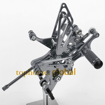 Free Shipping Motorcycle Parts Dark grey CNC Rearsets Foot Pegs Rear Set For YAMAHA YZF-R1 2004-2005-2006  Titanium Color