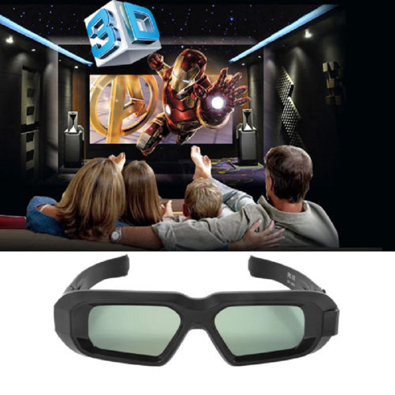 цена на USB Rechargeable Portable Bluetooth Infrared 3D Active Shutter Glasses for 3LCD Epson projector Samsung Panasonic Sharp 3D TV