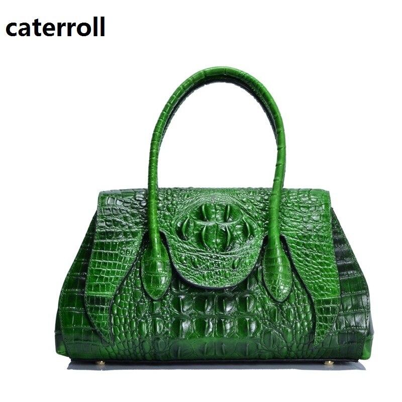 Sacs à main de luxe femmes sacs designer en cuir véritable sac alligator motif femmes sac à main marque en cuir véritable sac fourre-tout