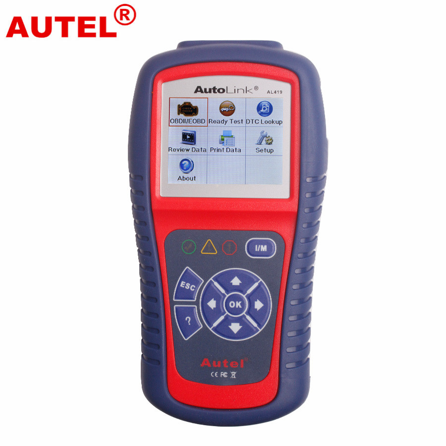 100% Original Autel AutoLink AL419 OBDII and CAN Scan Tool Autel AL419 OBD2 Code Scanner Online Update Free Shipping original autel autolink al519 scanner with promotion price original autel al 519 code reader work on all 1996 and new vehicles