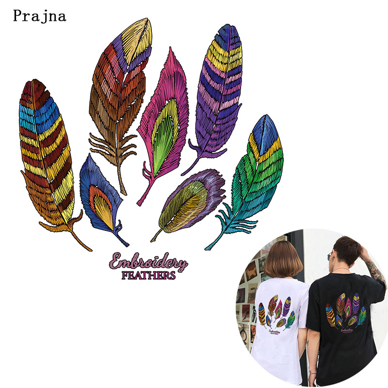 Prajna Hippie Leaf Heat Transfer Printed Iron on Transfer for Clothing T shirt Punk Rock Biker Thermal Transfer on Cloth Decor F in Patches from Home Garden