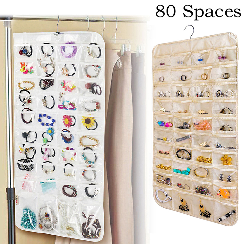 Kullavik Wall Mounted Jewelry Organizer Armoires Home Decor Display Shelf Storage for Necklaces,Bracelets,Ring Holder,Earings Wire Mesh,Velvet Earring Display,Incl.Hooks for Hanging Jewelries