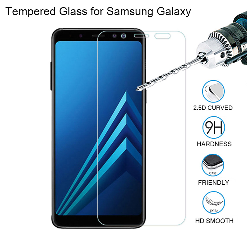 HD Screen Protector For Samsung Galaxy A6 Plus 2018 A9 Star Lite Protective Glass For Samsung A8 Plus Glass On Note 2 3 4 5 7 FE