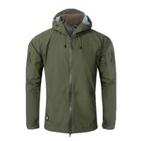 Tactical Men Full Adhesive Hardshell Jacket Outdoor Camping Climbing Sports Hiking Military Combat Male Fishing Waterproof Coat